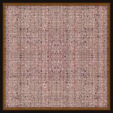 Persian rug. Isolated oriental rug in square shape for background Stock Photos