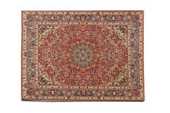 Persian Rug isolated on white background royalty free stock photo