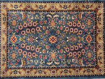 Persian rug. Turkish handwoven rug with floral design Stock Photos