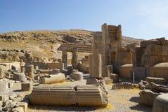 Persian ruins at Persepolis in Shiraz, Iran. Royalty Free Stock Photo
