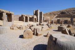 Persian ruins at Persepolis in Shiraz, Iran. Royalty Free Stock Photography