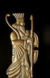 Persian soldier. Ancient Persian soldier engraved on metal stock photo