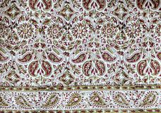Persian tablecloth. Scan of a piece of persian textile for background Royalty Free Stock Photo