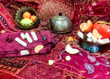 Persian tea table Stock Image
