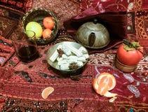 Persian tea table Royalty Free Stock Image