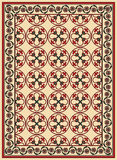 Persian vector carpet Royalty Free Stock Image
