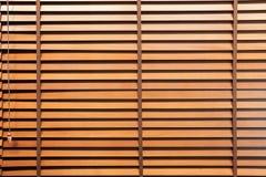 Persiana horizontal de madera Imagen de archivo