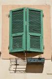 Persiana verde Foto de archivo libre de regalías