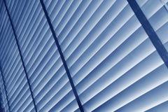 Persianas azules Imagenes de archivo