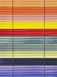 Persianas coloridas Imagenes de archivo