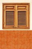 Persianas de madera Imagen de archivo libre de regalías