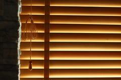 Persianas de ventana de madera Imagen de archivo