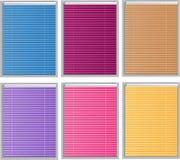 Persianas del color Fotografía de archivo libre de regalías