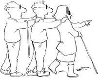 Persianas principales ciegas stock de ilustración