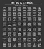 Persianas y sombras Obturadores y cortinas interiores del panel Ensenada de la ventana libre illustration