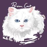 Persiano Cat Painting Poster Fotografie Stock Libere da Diritti