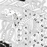 Persiga el zentangle diseñado con las líneas limpias para el libro de colorear para la tensión anti, el diseño de la camiseta, el Libre Illustration
