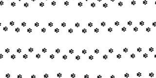 Persiga o branco isolado papel de parede do fundo da pegada da pata do gato do vetor de Paw Seamless Pattern ilustração stock