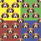 Persiga o fundo vermelho, amarelo, azul e verde do vetor Teste padrão sem emenda 4 em 1 Imagens de Stock Royalty Free