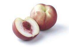 Persika en smak av organisk frukt   Fotografering för Bildbyråer