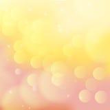 Persika och kulör bokehbakgrund för guling Arkivfoton