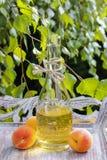 Persikafruktsaft Arkivbild