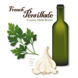 Persillade, Franzosen Herb Blend, Petersilie Stockfotos