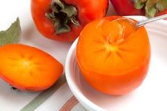 persimmon świeża łyżka Zdjęcie Royalty Free