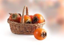 persimmon καλαθιών Στοκ εικόνα με δικαίωμα ελεύθερης χρήσης