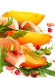 persimmon σαλάτα Στοκ Φωτογραφίες