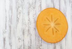 Persimmon φέτα Στοκ φωτογραφία με δικαίωμα ελεύθερης χρήσης