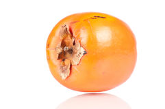 Persimmon. Over white reflective background Royalty Free Stock Photo