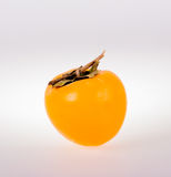 Persimmon. Rape persimmon fruit on white background Royalty Free Stock Images