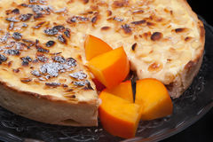 Persimmon Cake Closeup Stock Photo