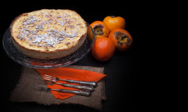 Persimmon Cake Royalty Free Stock Photography