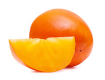 Persimmon close up Stock Photos