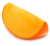 Persimmon cut slice Royalty Free Stock Photo