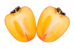 Persimmon cut on a white background Stock Image