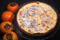 Persimmon Flan Stock Images