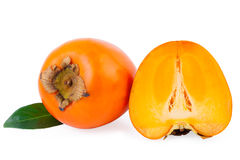 Persimmon Fruit isolated Stock Images