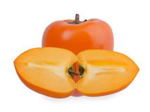 Persimmon fruit isolated on white background Royalty Free Stock Image