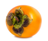 Persimmon fruit isolated on white Royalty Free Stock Photo