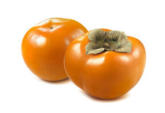Persimmon fruit 2 isolated on white background Royalty Free Stock Image