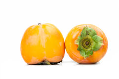 Persimmon fruit isolated on white background Stock Photo