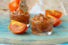 Persimmon fruit jam Stock Images