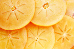 Persimmon fruit slices Royalty Free Stock Photography
