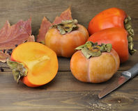 Persimmon Fruits Stock Photo
