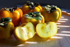 Persimmon fruits in Thailand. Stock Images