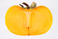 Persimmon half Royalty Free Stock Photography
