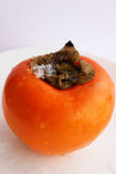 Persimmon. Happy all for its unusually delicate and sweet taste stock photo